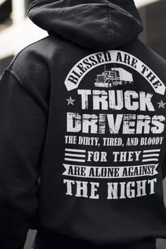 White Sleep with A Trucker and Ride All Day Hoodie