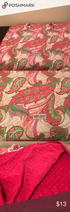 Paisley hot pink car seat canopy with minky side A little faded but still in great shape! Can be laid on the floor as a blanket too and the hot pinky minky is very cozy carseat canopy Other