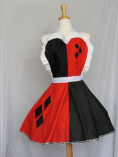 Harley Quinn Apron by Lameasaurus on Etsy, $60.00