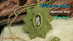 How to make a macrame knot stones with waxed cord (ถักเชือกเทียน)