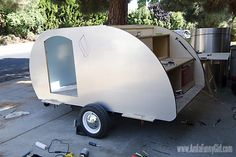 09 teardrop trailer aluminum skin trimmed down