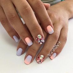 50 Nail Art Design for Perfect Summer - Elegant Nails, Stylish Nails, Trendy Nails, Colorful Nail Designs, Cute Nail Designs, Minion Nails, Butterfly Nail Art, Pretty Nail Art, Funky Nails