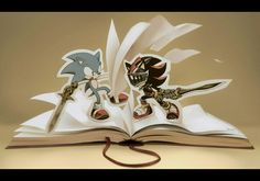 It's mean, Sonic and Shadow changing their's color. Sonic is black and red, Shadow is blue/// Hedgehog is veeeeeeeeeery cute! Sonic and Shadow change their's color Shadow The Hedgehog, Sonic The Hedgehog, Silver The Hedgehog, Robot, Sonic Funny, Fanart, Sonic And Shadow, Sonic Fan Art, Firefly Serenity