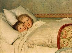"""Anker, Albert 1831–1910.  """"Zwei erwachende Kinder"""", 1891. © akg-images"""
