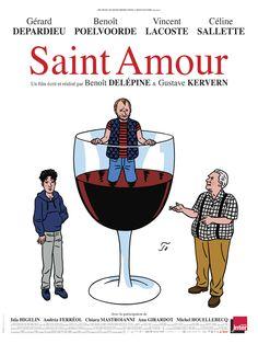 Découvrez l'affiche du film Saint Amour réalisé par Benoît Delépine et Gustave Kervern avec Gérard Depardieu, Benoît Poelvoorde.