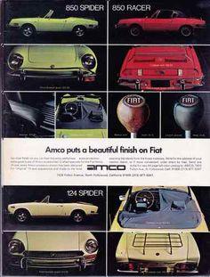 1971-1972 FIAT 850 SPIDER / 850 RACER / 124 SPIDER ~ CLASSIC PRINT AD | eBay