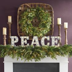 Bring the magic of the holidays into your home with the indoor Christmas decorations at Grandin Road. Find beautiful Christmas home décor online today. Silver Christmas Decorations, Christmas Mantels, Christmas Home, White Christmas, Christmas Wreaths, Christmas Crafts, Holiday Decor, Christmas Ideas, Winter Decorations