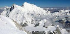 Sicht vom Makalu auf Ostseite des Everest und Lhotse