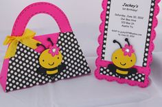 Bumble Bee Invitation and Goody Bags Set by yadyscreations on Etsy, $40.00