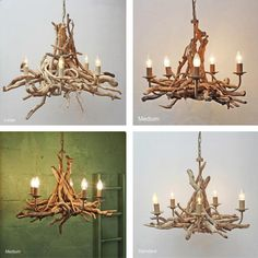 Driftwood Chandelier | Driftwood Lighting | Julia Horberry - buy the sea