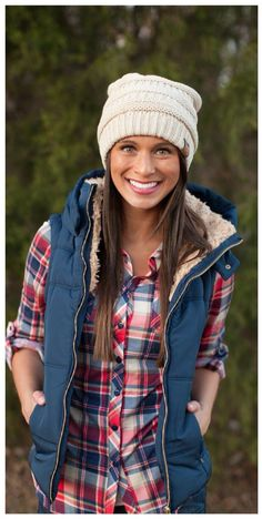 puffer vest with flannel