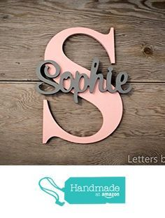 Personalized Nursery Wall Letters, Large Capital Letter with Name sign from Letters by Leslie https://www.amazon.com/dp/B01G7KKB4Q/ref=hnd_sw_r_pi_dp_HdqEzbCDCFE7A #handmadeatamazon