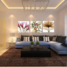 Canvas wall art 3 pcs modern wall pictures for living room cheap oil paintings violet home decor cavans painting Living Room Pictures, Wall Pictures, Modern Wall, Picture Wall, Canvas Wall Art, Couch, Oil Paintings, Mj, Furniture