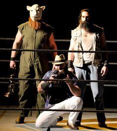 WWE Superstars Bray Wyatt, Erick Rowan, and Luke Harper make up the creepy yet entertaining Wyatt Family #WWE