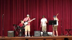 """Rubber Band rock band equipment malfunction, recital  and Burn Weezer Cover,  middle schoolers launched into a cover Weezer's """"Undone (The Sweater Song)"""" when an equipment malfunction caused them to leave their performance—wait for it—undone taking the stage, Henry, Grant, Stephen, and Griffin, also known as Rubber Band  Grosse Pointe Music Academy Com Spring Recital,  In Grace Pointe Woods, MI 48236  60-second video  June 18, 2014"""