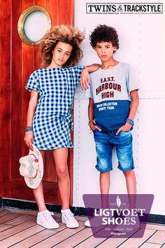 Voor liefhebbers van witte sneakers hebben we Twins and Trackstyle. Een stoere look van goede kwaliteit. Bekijk onze hele collectie op de website of in onze winkel.