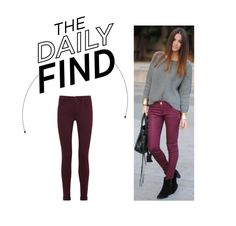 """Daily Find: 7 For All Mankind Burgundy Jeans"" by polyvore-editorial ❤ liked on Polyvore featuring J Brand and DailyFind"
