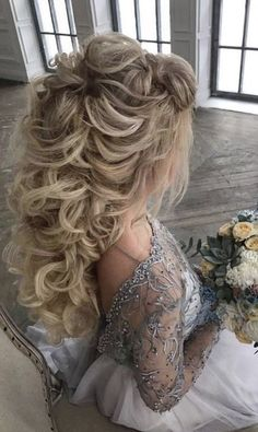 50 Attractive Wedding Hairstyles for Long Hair - hair ideas - Hochzeit Frisuren Wedding Hairstyles For Long Hair, Wedding Hair And Makeup, Bride Hairstyles, Pretty Hairstyles, Bridal Hair, Hair Wedding, Hairstyle Wedding, Celebrity Hairstyles, Teen Hairstyles