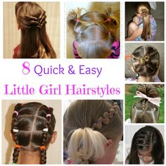 8 Quick & Easy Little Girl Hairstyles
