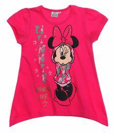 Tricou Minnie roz inchis - Shining like a Star!