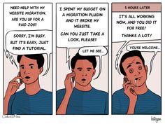 This is the February edition of WordPress comics with CodeinWP. We have five funny comic strips for you this month. Facebook Developer, Cube World, Job Website, Wordpress Admin, Funny Comic Strips, My Face When, Funny Comics, Web Development, Cool Pictures
