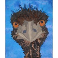 Emu quilt, pattern designed by Beth Miller.  Look at him, he's so goofy!  Love it!