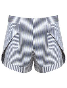 { Blue Stripe Side Panel Shorts }