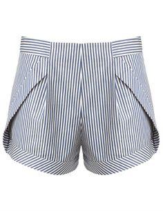 { Blue Stripe Side Panel Shorts }