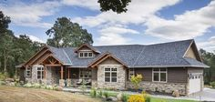 Jaw-Dropping Mix of Ranch & Craftsman Style Home (HQ Plan & Pictures) | Metal Building Homes  http://www.metal-building-homes.com/jaw-dropping-mix-of-ranch-craftsman-style-home-hq-plan-pictures/
