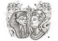 pigma micron and pencil Custom Egyptian back-piece tattoo design commission. This is a PAID COMMISSION DESIGN, please DON'T use it or ask me fo… Egyptian back-piece Egyptian Queen Tattoos, Egyptian Drawings, Egyptian Tattoo Sleeve, Egypt Tattoo Design, Tattoo Design Drawings, Tattoo Designs, Osiris Tattoo, Nefertiti Tattoo, King Tut Tattoo
