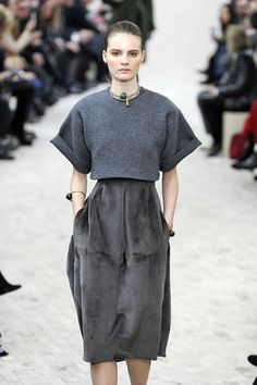 Runway Recap: Céline's Fall 2013 Show Pumps Up The Volume With Billowing & Boxy Collection.  That top = love