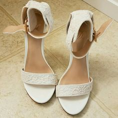 Off white heels 5.5 Like new Off white heels Worn once True to size  5.5  No trade Shoes