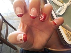 St. Louis cardinals baseball. Would love to get my nails done like this.