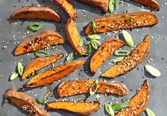 Maple Sesame Sweet Potato Fries | Roasted, High Fiber