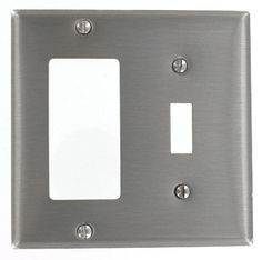 Leviton S126 2-Gang 1-Toggle, Decora/GFCI Device Combination Wallplate, Device Mount, Stainless Steel by Leviton. $8.84. From the Manufacturer                Leviton combination wallplates come in a variety of configurations and gangs, and are available in a broad selection of materials including, aluminum, brass, stainless steel and plastic, and in an assortment of colors. If you have a unique application, Leviton can also customize a wallplate for a specific job.2...