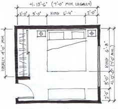 another 10 x 12ft small bedroom design for a queen size bed this is rh pinterest com