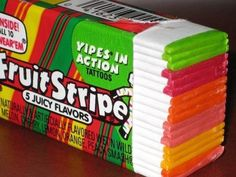 Fruit Stripe Gum. I used to get this in my Easter Basket. :)