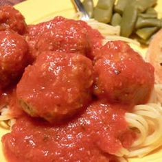 Jenn's Out Of This World Spaghetti and Meatballs Allrecipes.com  modifications -here they are summed up for easy viewing: 1. Omit 3 cans tomato paste for 1 can tomato paste and 1 can tomato sauce (I used 15oz can). 2. Omit 1/2 cup of sugar for 1/4 cup sugar if you like it a little sweet, or just 2 TBSP sugar if you cant tolerate much. 3. Omit 1 cup of water and add 2 cups of water instead.