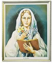 May 15th - St. Dymphna: Dymphna received the crown of martyrdom in defense of her purity about the year 620. She is the patron of those suffering from nervous and mental afflictions. Many miracles have taken place at her shrine, built on the spot where she was buried in Gheel, Belgium.