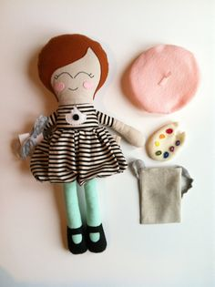 Georgette Cloth Doll Softie Rag Doll Artist by MyLittleLuvsbyAmy, $75.00