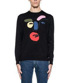 FENDI Fendi Men'S Fzz284Ofuf0Qa1 Black Cotton Sweater'. #fendi #cloth #sweaters