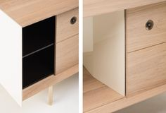 Detail of Mitch Low Cabinet by Nichetto