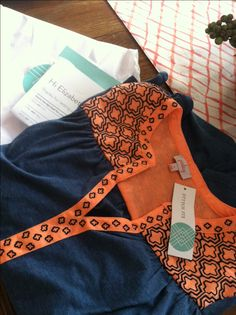 Pixley Lucia Top! Love the orange and Navy! Perfect Broncos colors! Would love in my fall fix! https://www.stitchfix.com/referral/4735234