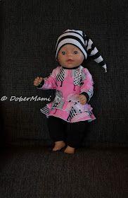 Baby Bornille body, peplum, frillamekko ja housut (sisältää kaavat!) || Free printable patterns for Baby Born 43cm.