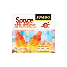 Jumbo Space Shuttles 9 x 55ml - Waterijsjes