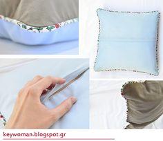 keywoman sews: pillowcase with piping(μαξιλάρι με διακοσμητικό κορδόνι)Μέρος 1ο
