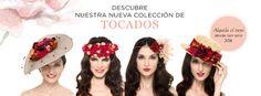 Alquila tu tocado en La Más Mona. Tenemos coronas de flores, canotiers, turbantes y muchos más desde tan solo 20€