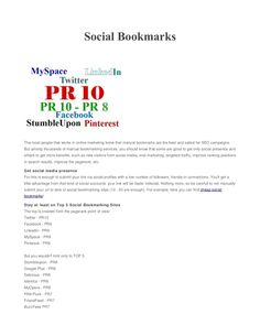 social bookmarks by ppscslv via Slideshare Social Bookmarking, Bookmarks, Seo, Campaign, How To Get, Book Markers