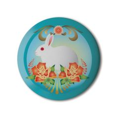 ❤️ #BBOTD Stereohype #button #badge of the day by Catalina Estrada https://www.stereohype.com/479__catalina-estrada #STBBDC 🐇🐰 #rabbit #bunny
