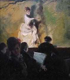 'Outdoor Stage, France,' ca. 1905; Everett Shinn, 1876-1953; oil on canvas; de Young Museum, San Francisco, California, U.S.A.